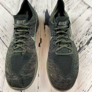 Nike Free Rn Flyknit Triple Anthracite Mens Shoes